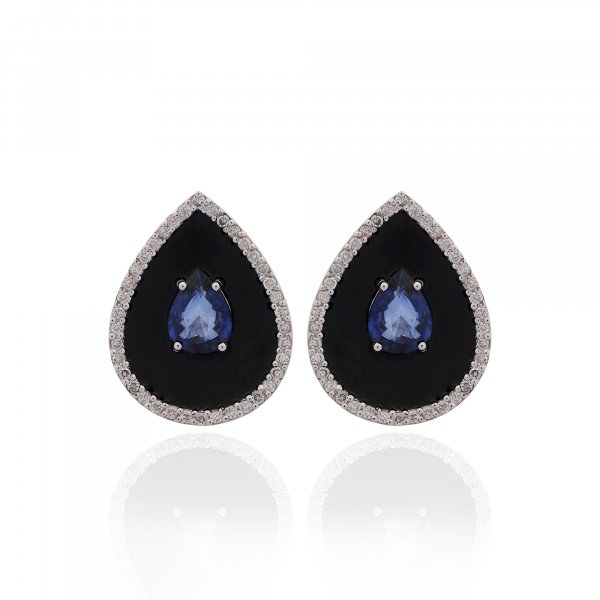 Cloisonné Collection Earring E1962-BS