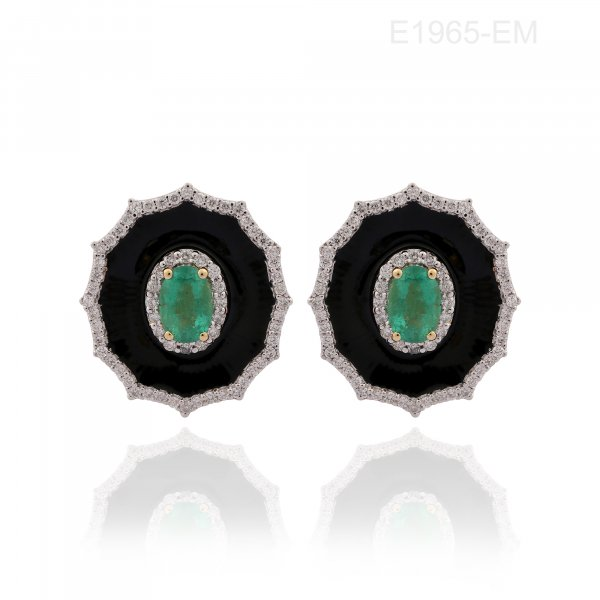 Cloisonné Collection Earring E1965-EM