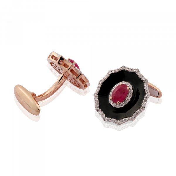 Cloisonné Collection Cufflink E1965-Cuffling NRB