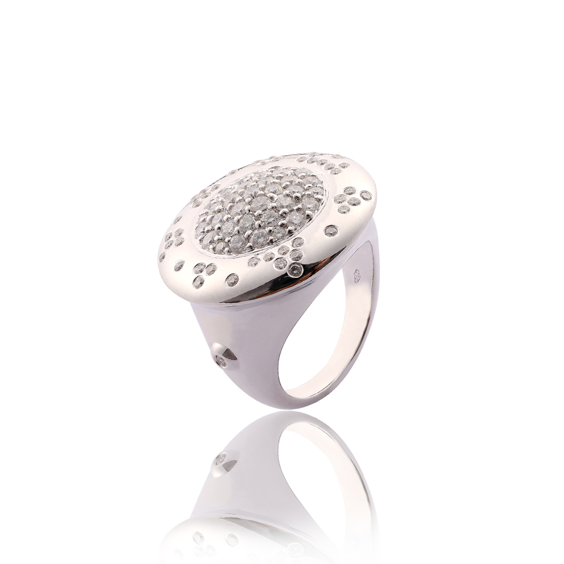 Pave Ring R0913-WH