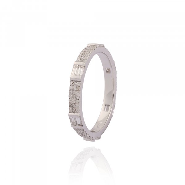 Forever Eternity Ring With Micro Pave R3253-WH